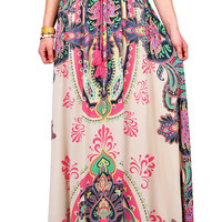 Paisley Passion Maxi Skirt