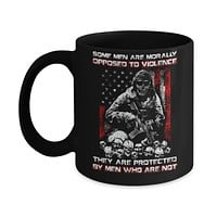 Veteran Men Opposed To Violence They Are Protected By Men Who Are Not Mug