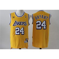 Lakers 24 Kobe yellow limited edition NBA Jersey