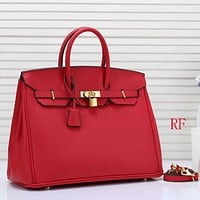 Hermes Women Fashion Leather Satchel Tote Handbag Shoulder Bag Crossbody