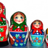 Matryoshka 5pcs 5.6 inch 14cm Nesting Doll, Russian doll, Russian matryoshka doll, Nested doll, Matrioshka – The girl with a basket