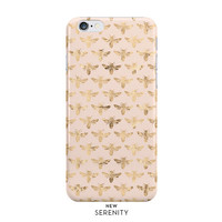 Honey Bee iPhone 6 Case, iPhone 6 Case, iPhone 6 Plus Case, iPhone 5 Case, Honey Bee Samsung Galaxy Case,Bee Peach Pattern,NewSerenityStudio