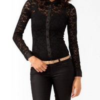 Bejeweled Lace Shirt