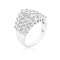 Classic Cubic Zirconia Step Ring, size : 05