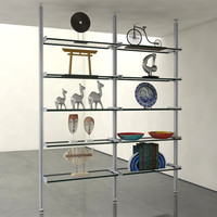 DIV Support Hardware Only 2-Bay Pole Mounted Shelving System
