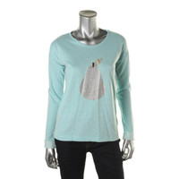 Erik + Lani Womens Glitter French Terry Pullover Top