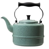 Paula Deen Signature Teakettles 2-Quart Enamel on Steel Classic Kettle, Robin's Egg Blue Speckle