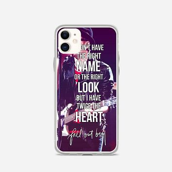 Fall Out Boy Lyric Cover iPhone 11 Case