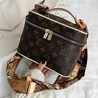 LV Louis Vuitton New Silk Scarf Shoulder Strap Cosmetic Bag Shoulder Bag Messenger Bag