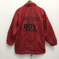 Vintage BOY LONDON Windbreaker Coach Jacket Trench Coat Fashion Designer Vivienne Westwood Versace