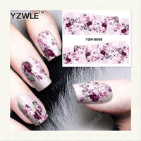 YZWLE 1 Sheet DIY Designer Water Transfer Nails Art Sticker / Nail Water Decals / Nail Stickers Accessories (YZW-8058)