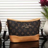 LV Louis Vuitton New fashion monogram brown check leather shoulder bag women