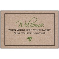 Welcome - You are Family Indoor/Outdoor Doormat | www.hayneedle.com