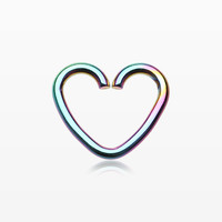 zzz-Colorline Heart Loop Cartilage Tragus Earring