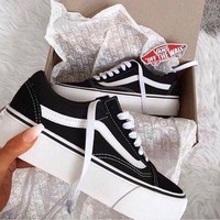 Vans Classic Old Skool Platform Canvas Sneaker Shoes Tagre™