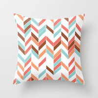 Modern Aztec Throw Pillow by Sunkissed Laughter