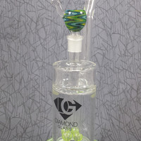 Slimed Quad Diffuser Bubbler by Diamond Glass