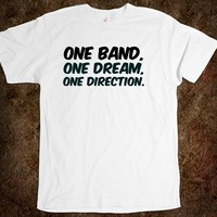 One Band, One Dream, One Direction. funny t-shirt