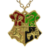 Harry Potter Hogwarts School Badge Necklace College Pendant Movie Jewelry high quality