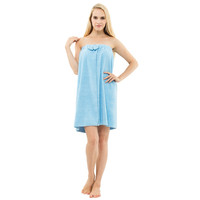 Sinomart Solid Candy Light Blue Color Bath Robe Female 10 Color Night Spa and Bath Use Bathrobe Towel Womens Gowns,#W01