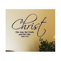 John 14:6 Christ the way the truth and the life vinyl decal stick quote bible...