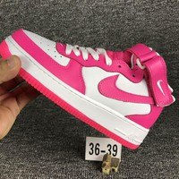 Tagre™ ONETOW Nike Air Force 1 One White / Pink Low Women Running Sport Casual Shoes