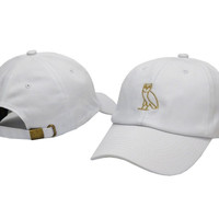Drake OVO Owl White Dad Hat