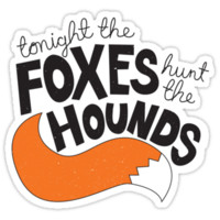 Foxes Hunt the Hounds (Black) T-Shirts & Hoodies