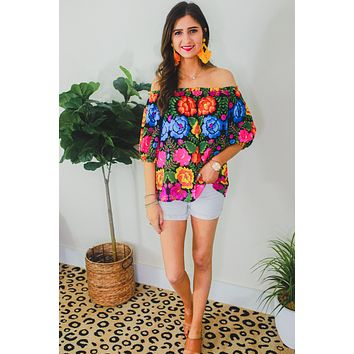 Kimberly Floral Print Off The Shoulder Top