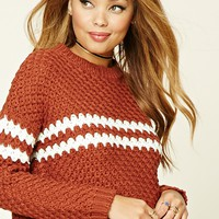 Contrast-Trimmed Sweater
