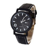 Mens Womens Army Style Leather Strap Watches Fashion Unisex Casual Watch Best Christmas Gift
