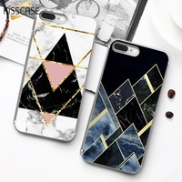 KISSCASE Geometric Marble Case For Samsung Galaxy A3 A5 A7 J3 J5 J7 2016 2017 Soft TPU Case For Galaxy S9 S8 Plus Note 9 8 Cover