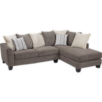 Meridian Springs Charcoal 2 Pc Sectional