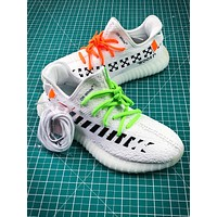 Off White X Adidas Yeezy 350 V2 Boost Sport Running Shoes
