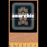 Anarchic Adjustment Clothing Old School Skateboard Sticker