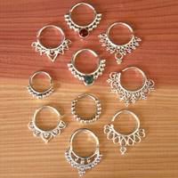 Assorted Silver Septums Package - Septum Ring - Septum Jewelry - Septum Piercing - Septum Cuff - Indian Nose Ring - For Pierced Nose