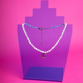 Pearl Peace Charm Necklace