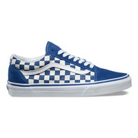 spbest Vans Primary Check Old Skool - True Blue / White
