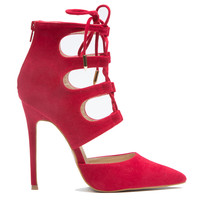 FOXXI LACE UP BOOTIE - RED