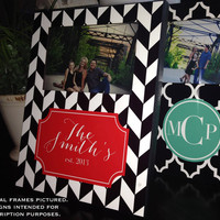 Custom Picture & Photo Frame, Monogrammed Frame, Personalized Frame