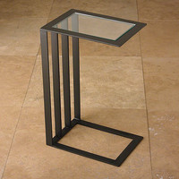Global Views Cantilever Side Table-Bronze - Global Views 9-92189