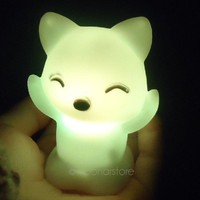 Super Lovely Fox Pattern Baby Kids Colorful Night Toys Lamp 7 Colors Changing Color Children's Attractive Toys Gifts