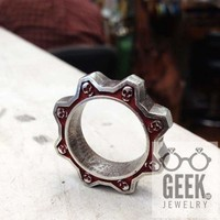 Gear Ring Skull Ring- Gents