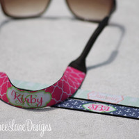 Personalized Sunglasses Strap - Monogrammed Sunglasses Holder - Sunglasses Strap - Design Your Own - Made in USA - Sunglasses