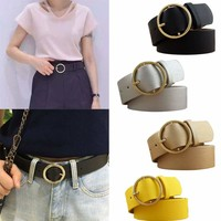Women Belt Ladies Classic Faux Leather Multicolor Thin Skinny Waistband Strap #
