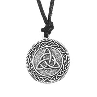 Knotwork Triquetra Trinity Necklace Pendant Wicca Pagan Jewelry