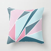 Pink and Navy  Throw Pillow by Ashley Hillman