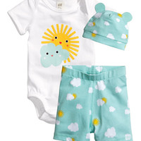 3PCS Baby clothing Set Cotton Newborn Baby Romper Set Children Kids costume Infant Girls Boys clothes set Summer