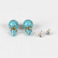 Ball And Point Double Sided Earrings