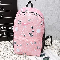 NIKE Popular Trending Sport College Shoulder Bag Travel Bag School Backpack Pink
